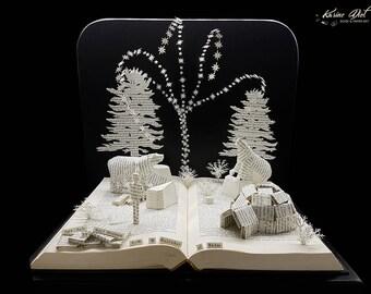 Book Sculpture - Paper Art - Miniature Diorama