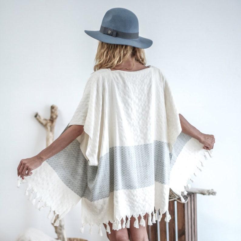 57ac77d27a7 SALE Pamuk Kimono Blue Cotton Kimono Beachwear Resort | Etsy