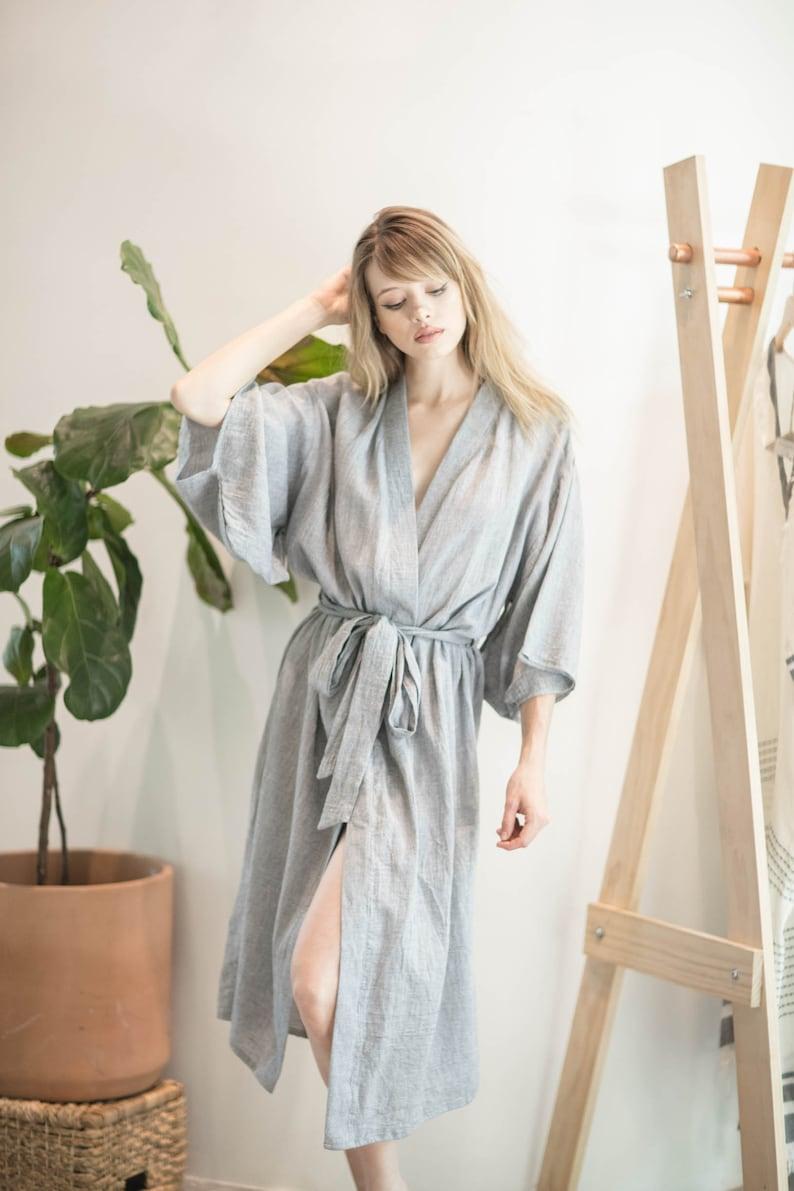 75e2d44c0a4 Mest Kaftan Cotton Kimono Robe Maxi Dress Robe Resort | Etsy