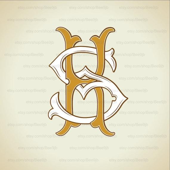 Wedding Logo Ks Sk Monogram Vintage Wedding Clip Art Etsy