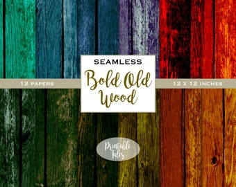 Seamless Wood Texture Files, Old Distressed Fence, Bold Wood, Digital Background Paper Pack, Aged Wood Texture, Paper Craft, Tileable jpg
