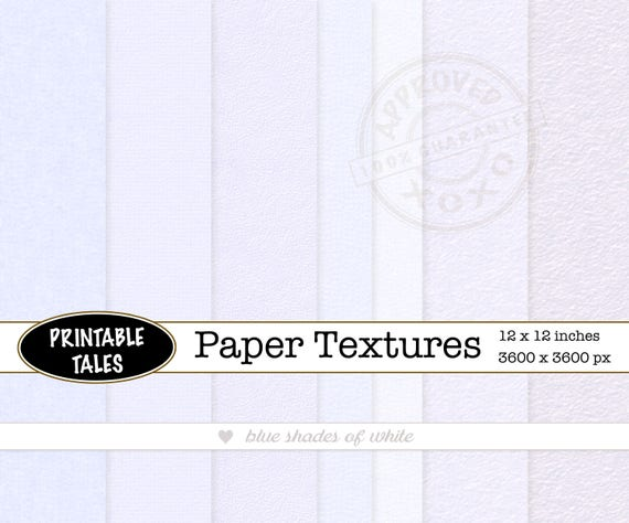 Watercolor Digital Paper Texture Blue Shades Heavy And Light Etsy