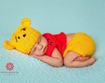 Newborn knit Winnie the Pooh set 970b714bd