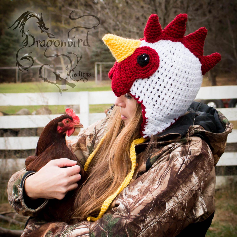 Chicken Hat Rooster Hat Adult Hat Halloween Mens Hat Etsy