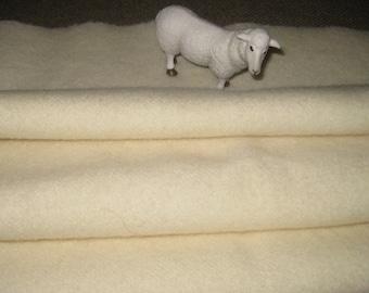 1/4 or 1/2 Yard Dorr Solid NATURAL 100 Percent Wool fabric.