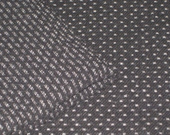 Black and White TEXTURE, Reversible  100 Percent Wool fabric, Fat 1/2 yd.