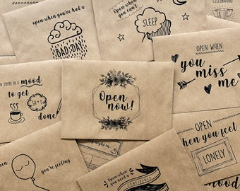 Set of Open When Letters | Anniversary Gift | Long Distance | Boyfriend or Girlfriend | Cute Gifts for Friends
