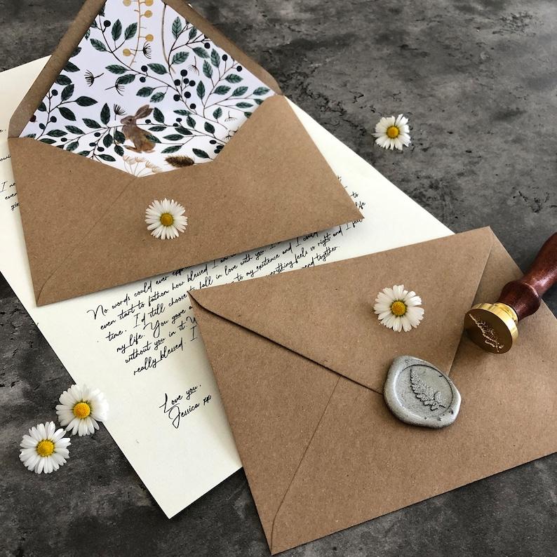 Liebesbrief Personalisierte Umschlag Wachs versiegelt | Etsy