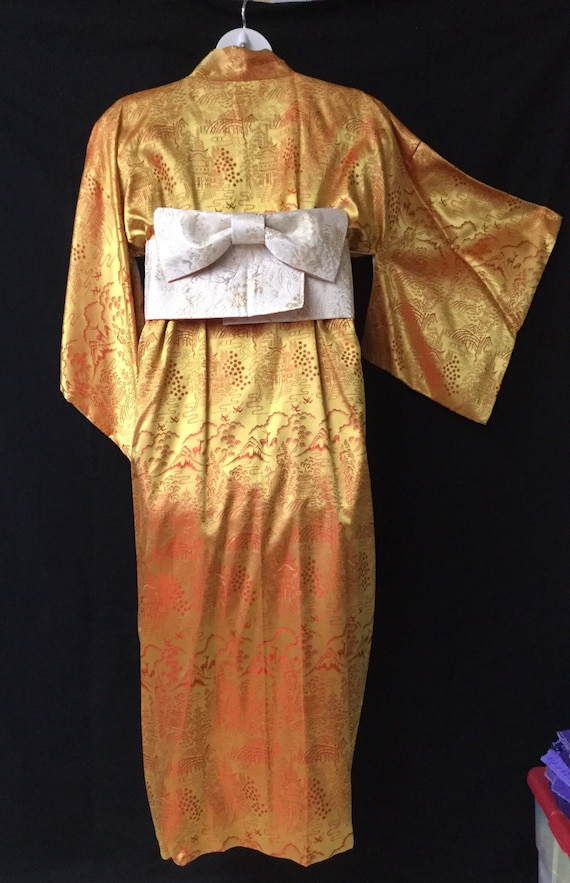 Vintage rayon/silk kimono + Obi