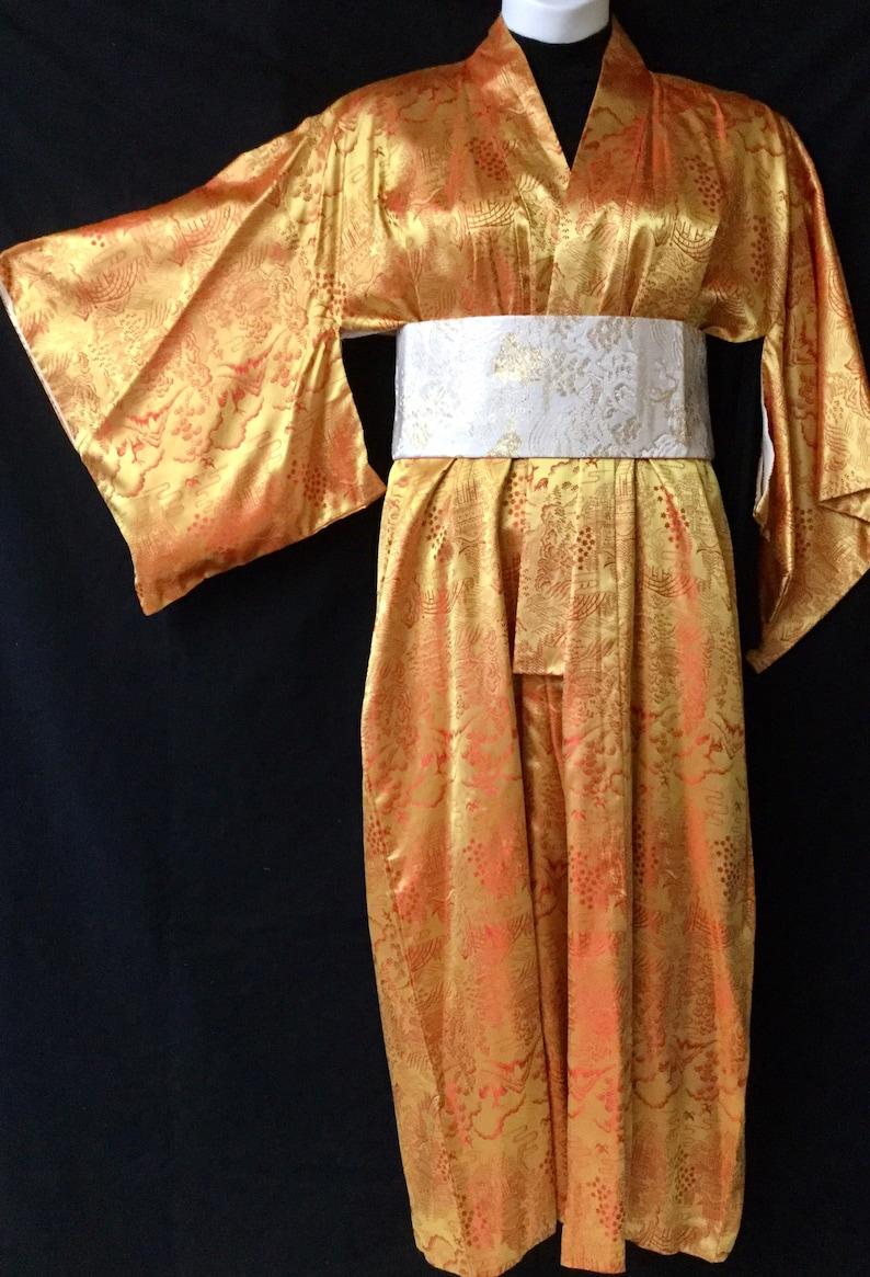 Obi Vintage rayonsilk kimono
