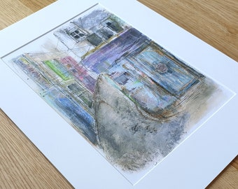 A3 Mounted and Backed Giclee A4 Print - 'Back Steets of Rajasthan'
