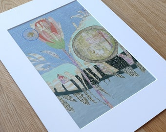 A3 Mounted and Backed Giclee A4 Print - 'Oasis at Midnight'