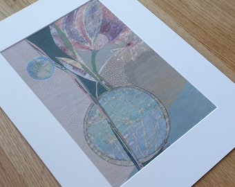 A3 Mounted and Backed Giclee A4 Print - 'Dusk Falls on The Wild Flora'