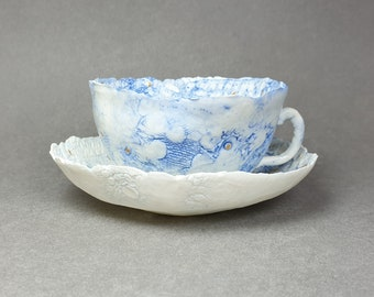 Porcelain Patchwork Cup and Saucer #08