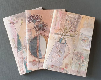 A6 Unlined Notebooks Pack of 3 - Original Designs by Emma Louise Wilson