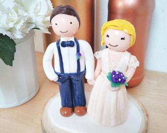 Figurines De Gateau Pour Mariage Etsy Fr