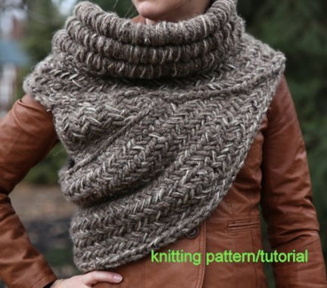 Knitting Pattern Tutorial All Adult Sizes And Colors Katniss Etsy