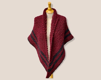 Outlander Shawl, Triangle Shoulder Wrap, Chunky Scarf, Neck Warmer, Sweater Wrap, Outlander Gift, Gift for Mom, Gift for Wife