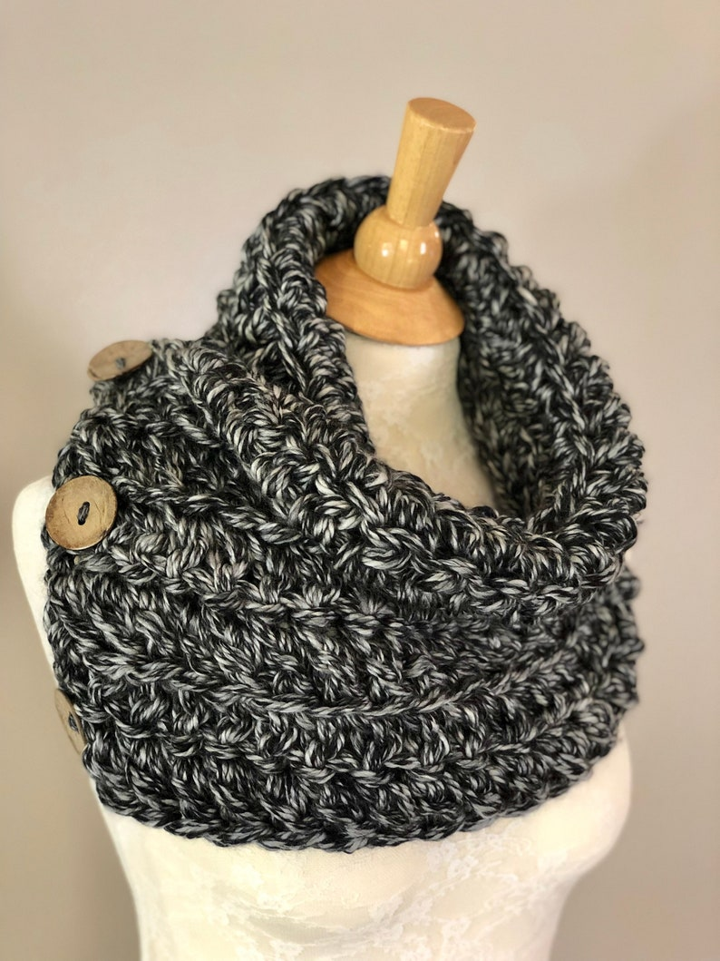 Chunky Boston Harbor Scarf Shawl Cowl Hand Crochet Scarf With Etsy