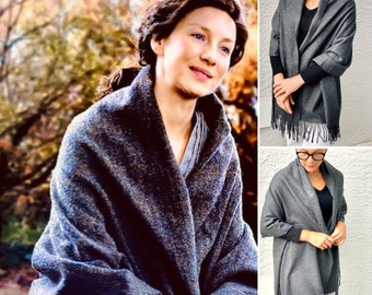 Outlander Shawl, Travel Scarf, Shoulder Wrap, Large Fabric Blanket Scarf, Shoulder Warmer, Outlander Gifts, Gift for Mom for Women