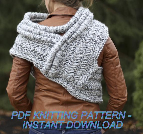 Katniss Cowl Pattern Knitting Pattern Tutorial All Adult Sizes Etsy