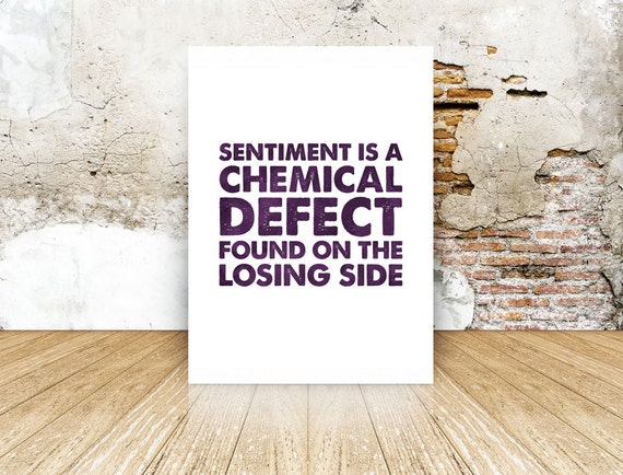 Kunstplakate Sherlock Sentiment Is A Chemical Defect Poster New Antiquitäten & Kunst Laminated Available