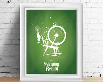 Disney Sleeping Beauty downloadable digital art print
