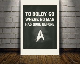 Star Trek To Boldly Go downloadable digital art print