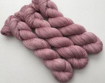 Mauve Hand Dyed Yarn