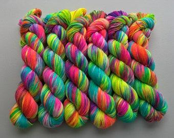Glow Sticks Hand Dyed Yarn