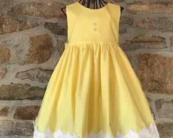 9bdb5b1825 Girls special occasion, Girls Spring dress, yellow dress,flower girl  dress,party dress, sleeveless dress,toddler dress, baby dress,