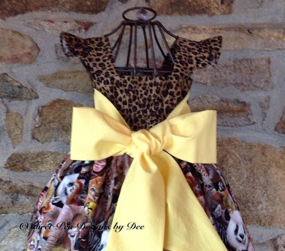 Girls zoo animal print dress Leopard zebra print dress baby  247289945