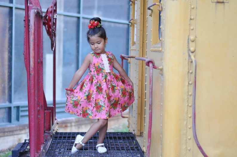Easter dress,Floral sundress special occasion dress toddler dress pink dress girls clothing, Summer dress girls sundress