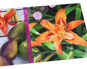 Orange placemat figs and Lily
