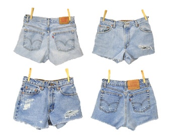 Vintage Levi's Shorts Cutoffs Grunge  / CUSTOM MADE made fringe summer shorts hipster Daisy Dukes  / festival boho indie by Indie Cloth Co
