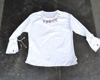 Details zu Herren Gestreift T Shirt Tee Schwarz Weiß Nautisch Indie Mod Top Vtg Pullover