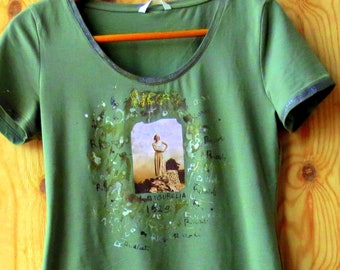 T.Shirt printed and hand painted with photo 1929
