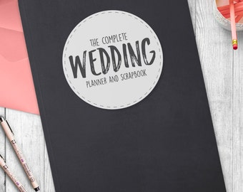 Complete Wedding Planning book / Organiser- Chalkboard style cover