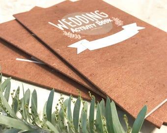 Kid's Wedding Activity Books- 3 Pack - Wedding Activities, Games Puzzles & More. Children's wedding activities