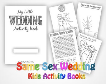 Same Sex Wedding Activity Books- Kids Fun at Weddings -Female