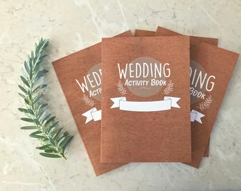 5 Pack- Kids Wedding Activity Booklets , Children's Wedding activity books.