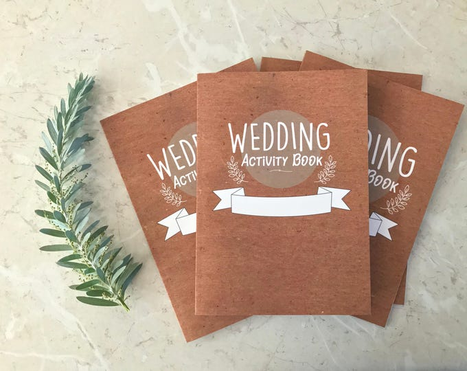 4 Pack- Kids Wedding Activity Booklets , Children's Wedding activity books.