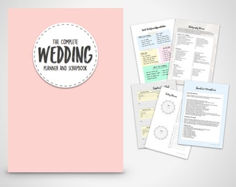 Wedding Planning kit - The Complete wedding Planner with Pink Cover Print at home Digital Download