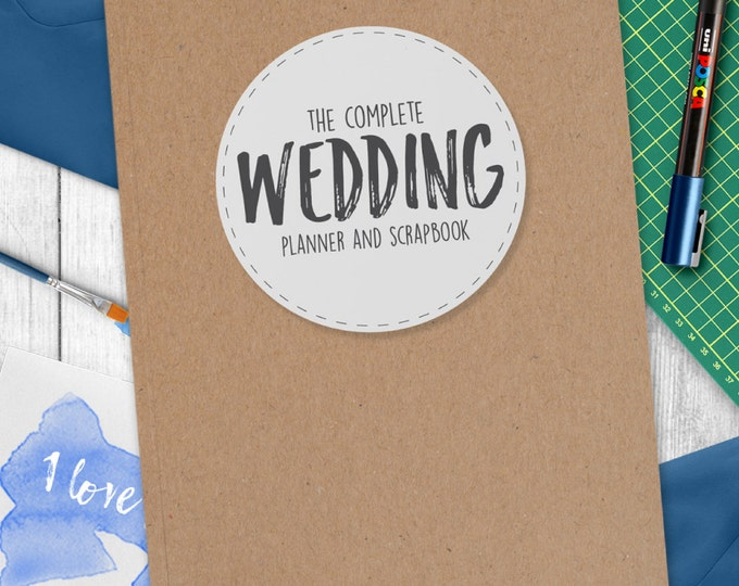 Wedding Planner - Ultimate Wedding Organiser with Kraft style Cover
