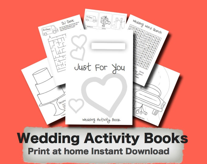 Kids Wedding Activity Book - Print at home PDF