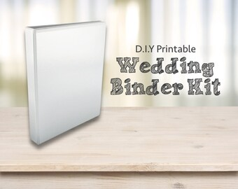 Wedding Planner Printables - DIY Printable wedding binder/ Folder / Diary / Planner
