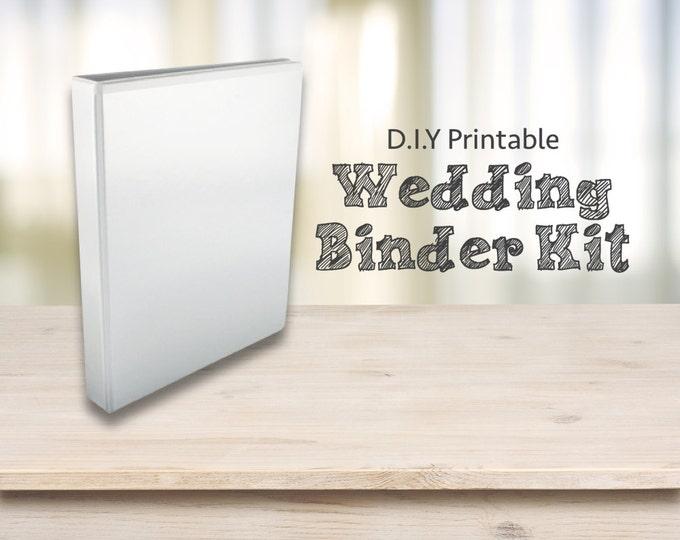 Wedding Planner Printables - DIY Printable wedding binder/ Folder / Diary / Planner