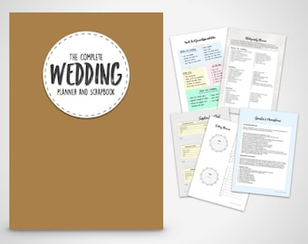 Wedding Organiser Printable Planner- The complete Wedding Planner printable wedding planner book