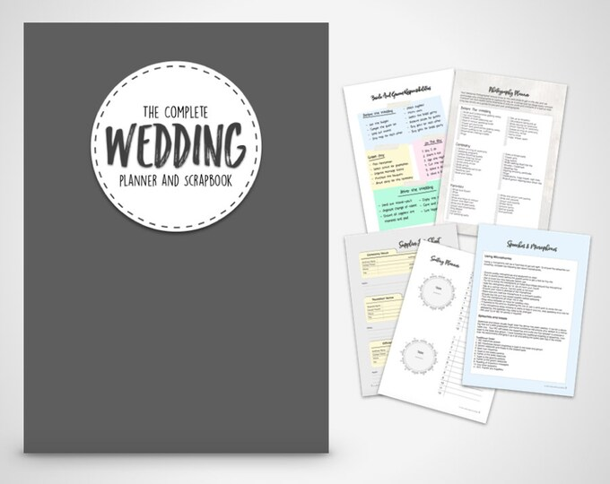 Wedding Planner book, wedding organizer Print at home Digital Download,Wedding Planner, Wedding Binder Printable, wedding checklists