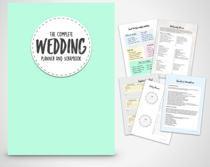 Wedding Planner- Printable DIY Wedding binder Folder printable